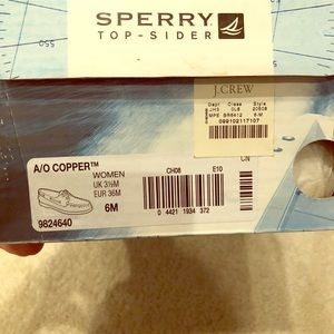 Brand NIB Sperry top-sider shoes for jcrew